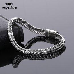 Retro Pulseira Do Vintage Do Punk Completa Interface Magnética Arco Elastic Cobra Cuff Bracelet Charm Cidade Osso Pulseira Chapeamento Antigo Prata de Fornecedores de braceletes de corrente de bronze dos homens