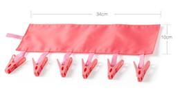 Lingerie en Ligne-Nouveau Multifonctionnel Portable Cintre Séchoir Etendoir Pliable Salle De Bains Rack Voyage Pince À Linge 6 Clip Hanger Serviette Chaussettes Hanger Clip