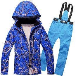 Wholesale Men Wind Pants Blue - Wholesale-New Winter Ski Snowboard sets men Wind Resistant Waterproof Breathable snowboarding Jacket Pants Clothing Suits Snow Sports