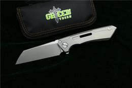 cuchillos al por mayor de chris reeve Rebajas Cuchillo plegable de solapa SNECX BUSTER de espina verde M390 hoja TC4 mango de titanio para acampar al aire libre utilidad cuchillo de fruta herramienta EDC