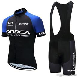 laranja ciclismo jersey térmico Desconto ORBEA equipe Ciclismo Mangas Curtas jersey (bib) shorts conjuntos de verão Quick Dry de alta qualidade Mountain Bike novo Ropa Ciclismo Gel Pad F2215