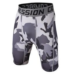 Herren skinny enge shorts online-2018 Sommer Herren Original Compression Shorts 3D Print kurze Strumpfhose Skinny Bodybuilding atmungsaktiv MMA Mann versandkostenfrei