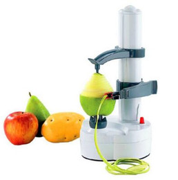 Wholesale multi function machine - Multi-function Automatic Electric Apple Pear Potato Peeler Vegetable Slicer Peeling Machine Kitchen Tools Without Power Cord CCA8449 20pcs