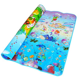 Wholesale Crawling Puzzle - Baby Crawling Puzzle Play Mat Blue Ocean Playmat EVA Foam Kids Gift Toy Children Carpet Outdoor Play Soft Floor Gym Rug