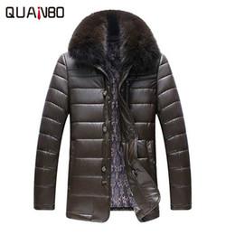 Wholesale Fox Fur Leather Jacket Men - Wholesale- 2017 New Arrivals Winter Thick PU & Leather Jacket Fox Fur Collar Plus velvet Keep Warm Men Fur Leather Jacket High Quality Coat
