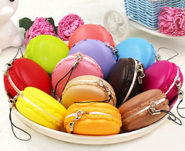 Wholesale Macaron Gift - 5CM random color Cute Toys Pretend Kitchen Toys Artificial Macaroons Toys newest Kawaii Soft Dessert Macaron Squishy kids gift A00368