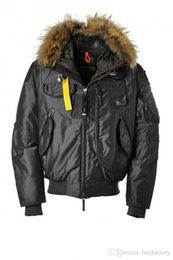Wholesale Men S Short Down Jacket - NEW! DHL Free Shipping 2017 Hot Sale Luxury Parajumpers men's gobi down Jacket Hoodies Fur Fashionable Winter Coats Warm Parka Free shi
