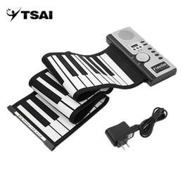 2019 klavier 61 schlüssel TSAI Piano Elektronische Schwarz und Weiß 61 Tasten Universal Flexible Roll Up Soft Keyboard Klavier für Guitarra-Spieler beliebt neu günstig klavier 61 schlüssel