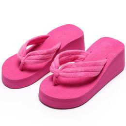 Wholesale Lady Heels Sandals Wholesale - SIZE 42 Fashion Summer Women Wedges Sandals Platform Slippers Beach Shoes Ladies Flip Flops Thick Heel