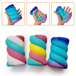 Wholesale universal toys - Twisted Marshmallow Squishies Toys Jumbo Scent Slow Rising Sponge Candy Big Squishy Phone Strap DHL Free Shipping SQU061