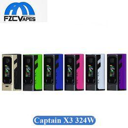 Wholesale x3 battery - 100% Original Ijoy Captain X3 324W Box Mod 9000mAh Lipo Vape Mods with 3 20700 Battery 6 Colors