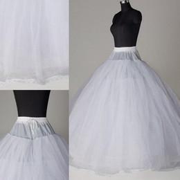 Wholesale brides underskirt - New Arrival 8 Layer White Crinoline Petticoat no hoop ball gown Bride wedding dress Underskirt 2018