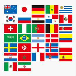 Wholesale bar party decorations - Russian World Cup 32 Team flag String flags Country World Banner Bunting bar home party decoration BBA28