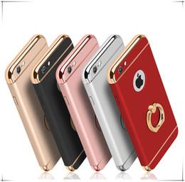 Canada Non Slip Matte Electroplate Frame Plating Couverture de cas de la peau avec support d'anneau en métal pour IPhone X XS 8 7 Plus 6 6S 7plus Designer de luxe supplier iphone metal skin Offre