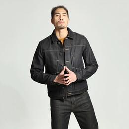 Wholesale Punk Japanese Fashion - 2018 Japanese Retro Original Patch Pocket Denim Jacket Personality Fashion Classic Tide Men's Casual Loose Youth Pop Punk Style