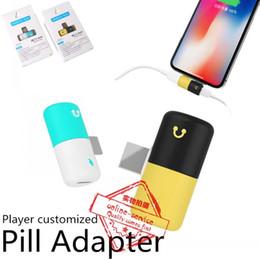 Paquete minorista de doble color Mini adaptador de cápsula 2 en 1 para cargar el adaptador de divisor de pastillas de audio para auriculares ix 8 7 6 desde fabricantes