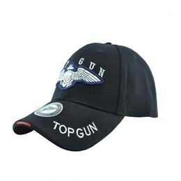 Top Gun Sport Baseball Peaked Caps Hat Outdoor Travel Sun Bike Hat black tan ? partir de fabricateur