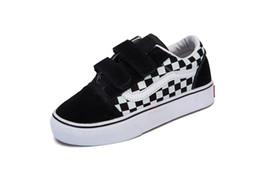 1.5 zapatos casuales de niños online-Vans Old Skool low-top CLASSICS 2018 Marca Niños Zapatos casuales juventud Niños Niñas Zapatillas Running Zapatillas babay Niños zapatillas de lona zapatos