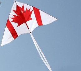 Wholesale Flag Parts - I'M A BIRD Outdoor Sports Fashion Stunt 1m Canadian Flag Kite Stunt Easy Speed Control Shipping Free Shipping