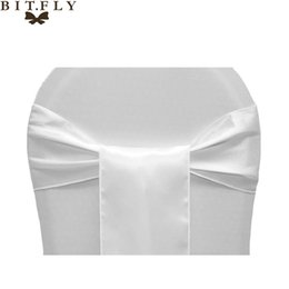 wedding brown beige chair covers Promo Codes - sash brush 15*275cm colorful chair sash wedding party home decoration stain fabric restaurant decoration chair cover supplies