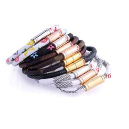 pulseiras de cobre de couro Desconto 18 cm Venda Quente De Cobre De Latão Nova Moda de Luxo Da Marca de Jóias Amor Pulseiras Pulseiras pulseiras de Couro pulseiras Para As Mulheres / Homens de jóias