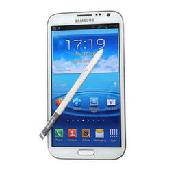 "Células hd on-line-Original Samsung Galaxy nota II 2 N7100 Android 4.1 Celular 5.5 ""Câmera HD 8MP Quad-Core 2G / 16GB ROM Desbloqueado Telefone"