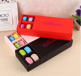 12 tazas de papel Macaron caja de embalaje tipo de cajón de galletas pasteles de chocolate cajas de pastel para el regalo del banquete de boda desde fabricantes