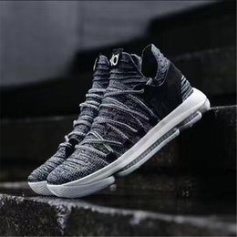 Wholesale Kd Mens - 2018 New Kevin Durant X Zoom KD 10 Anniversay PE Elite FMVP Oreo Mens Basketball Running Designer Shoes Trainers Sneakers