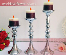 tall candle holder centerpieces Coupons - cheap elegant new designe tall Wedding Candle Holder Romantic Standing Wedding Candlestick Wedding Flower Stands Silver Candelabra