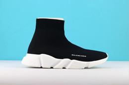 finest selection b2603 dc553 Alta qualità economici originali 2018 donne uomini calzino scarpe da corsa  nero bianco rosso velocità allenatore sportivo sneakers top stivali scarpe  da ...