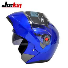 Wholesale Dual Visor Helmets - Motorcycle SPEED Racing Helmet JIEKAI 105 Dual Visor Motocross Motorbike Flip up helmet with internal Controable sunglass