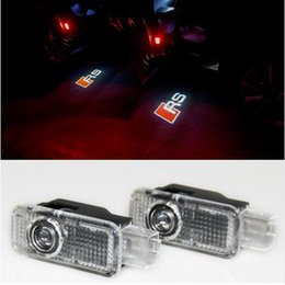 Wholesale A4 B5 - 2pcs  set Car LED Door Warning Light welcome Logo Projector For Audi a4 b6 a3 a6 c5 b8 b7 c6 q5 a5 b5