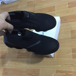 Wholesale Sneakers Belts - 2018 New Vapormax moc black belt Mens Running Shoes For Men Sneakers Boots Women Fashion Vapor Maxes Athletic Sport ShoeWalking Outdoor Shoe