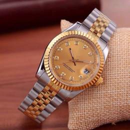 Мужские часы с бриллиантами онлайн-2020 бренд календарь топ роскошные часы мужчины черный лавровый дизайнер алмаз часы высокого качества оптовой женщины платье розового золота часы Релох Mujer