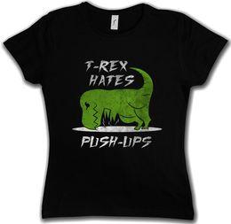 Das T-Stück der Frauen T - Rex hasst Stoß - Ups Frauen-T-Shirt Großhandel Rabatt-Dinosaurier T Rex Fun Arms Gymer von Fabrikanten