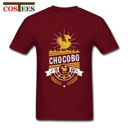 Wholesale Final Fantasy Black - Final Fantasy Chocobo T Shirt Men's Summer O Neck Cool man Tees Male Oversize Tshirt Popular Exercise fitness slim Guys T-Shirts