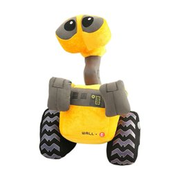 Wholesale Yellow Robot Cartoon - Cartoon Movie WALL-E Robot Plush Toys Doll 25cm Stuffed Toy Doll Game Figure Christmas Party Best Gifts