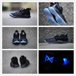 волокнистый углерод темно-синий Скидка 2019 Lights UP PG 2 PlayStation Телец All-Star OKC PS Март Безумие Дорога Мастер Баскетбольная обувь Paul George II PG2 2s EUR 7-12