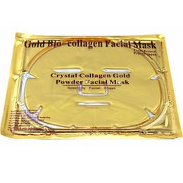 máscaras de caracol Desconto 24 k Ouro Bio-Collagen Facial Máscara Máscara Facial de Cristal De Ouro Em Pó Colágeno Máscaras Faciais Hidratante Anti-envelhecimento produtos de beleza