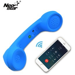 Wholesale Receiver Telephone - Wireless Retro Telephone Handset and Wire Radiation-proof Handset Receivers Headphones for a mobile phone with comfortable call