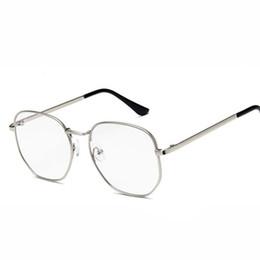 bd6d1b9ea24 Vintage Optical Eye Glasses Women Frame Myopia Round Metal Unisex Spectacles  Female Eyeglasses oculos de grau Eyewear