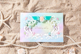 Wholesale Wedding Card Themes - Wedding invitations cards Personalized Cards Invitation Unique Invitation Beach Theme wedding card invitations