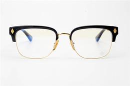 Gafas de corazón masculino online-Punk gótico Creole marco en forma de corazón hembra medio marco gafas marco miopía masculina gafas hechas a mano espada grande cruz gafas coincidentes
