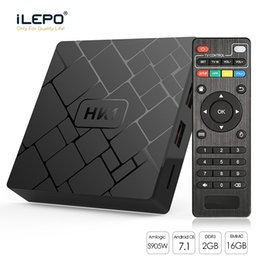 2gb barato on-line-HK1 Barato TV Android BOX OTT Boxes Amlogic S905W 2 GB 16 GB Quad Núcleo 2.4 GHz Wifi 100 M LAN Android 7.1 Streaming Media Player
