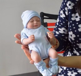 Wholesale realistic silicone baby doll - Reborn Baby Dolls Real Doll Handmade Reborn 11 inch Real Looking Newborn Baby Girl Silicone Realistic Doll 1pcs Free Shipping