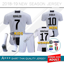 18 19 Juventus RONALDO DYBALA HIGUAIN home kids kit soccer jersey 2018 2019  juve MARCHISIO MANDZUKIC CHIELLINI BUFFON child Football Shirt u 7dc1aab4e