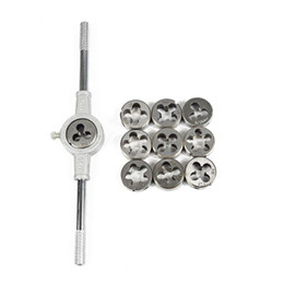 Morire il kit online-Set di chiavi dinamometriche da 11PCS Kit di viti metriche con filettatura esterna Punzoni da taglio con filettatura Kit di utensili a mano Utensili di maschiatura