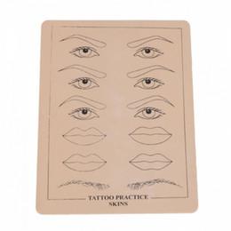 Tatuagem da pele das sobrancelhas on-line-Atacado Top Quality Maquiagem Permanente Sobrancelha Lábios Tatuagem Prática Formação Skin Skin Set Para Iniciantes frete grátis