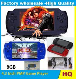 Hot 4.3 pulgadas PMP Handheld Game Player MP3 MP4 MP5 Player Video FM cámara portátil 8GB Game Console envío gratis desde fabricantes
