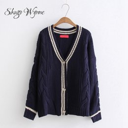 Wholesale Top Mori - Shugo Wynne Mori Girl Cardigan Sweater 2017 Autumn Winter New Women Fashion V-neck Long Sleeve Knit Sweater Female Cardigan Tops